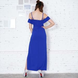 090830e92ac94 ... 全3色 オフショルスリットロングワンピース お呼ばれ パーティー ナイト セクシー ドレス キャバドレス|ener ...