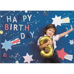 フォトポスター/壁紙ポスター 〔Happy Birthday ポップスター ブルー〕 A0サイズ 8...