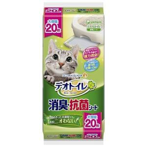 (まとめ)デオトイレ 消臭・抗菌シート 20枚 (ペット用品)〔×6セット〕【商工会会員です】