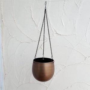 アイアンハンギングプランター:トゥリクル コッパー510-020/202(直径15.5cm)|engei