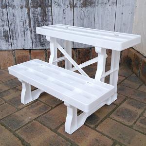 鉢棚:フラワースタンド460 ホワイト(幅46cm×高さ30cm)|engei