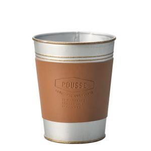 コーヒーのタンブラーをモチーフにしたブリキです。スリーブ部分は刻印入りの合皮を使用し、かっこよさにこ...