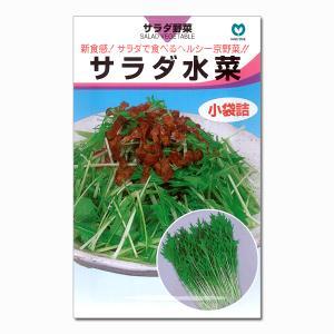 サラダで食べるヘルシーな京野菜「水菜」。葉軸は極細で繊維質が少なく、シャキシャキ感のある歯ごたえが格...