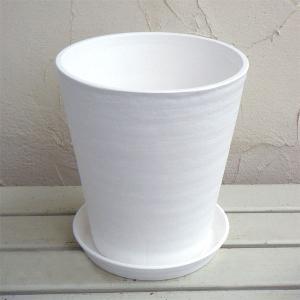 セラアート長鉢8号(白)M  鉢と受け皿のセット|engei
