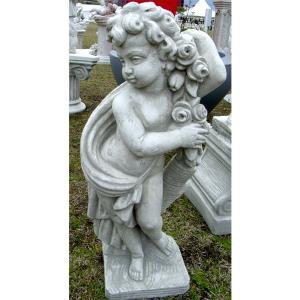 イタリアの石材エクステリアオーナメントメーカー、デコールガーデン社の工房で製作された石像です。粒状の...