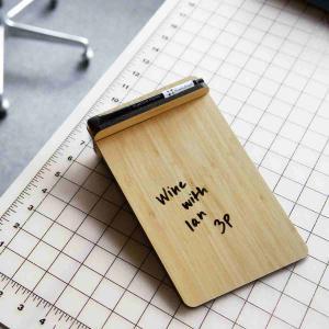 ホワイトボード おしゃれな 卓上 メモ ToDo ボード 送料無料 ステンレス または 竹製