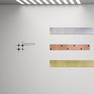 壁面収納 マグネットボード おしゃれな 壁掛け メタル ストリップ 「 ロング2本+ショート1本」セット|enitusa