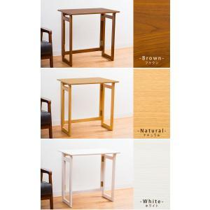 木製 フォールディングテーブル 折りたたみ コンパクト テーブル デスク 省スペース 収納 持ち運び|enjoy-home|02