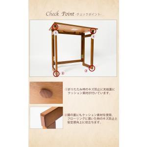 木製 フォールディングテーブル 折りたたみ コンパクト テーブル デスク 省スペース 収納 持ち運び|enjoy-home|07