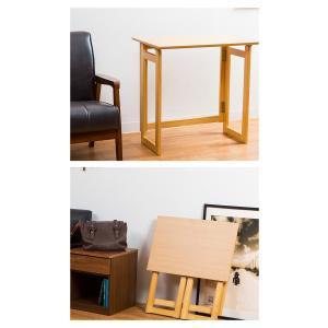 木製 フォールディングテーブル 折りたたみ コンパクト テーブル デスク 省スペース 収納 持ち運び|enjoy-home|08