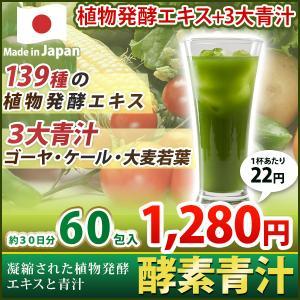 青汁 酵素青汁 国産 3大青汁 抹茶風味 飲みやすい 続けやすい お試し 60包 分包タイプ 大麦若葉 ゴーヤ ケール 安心|enjoy-home