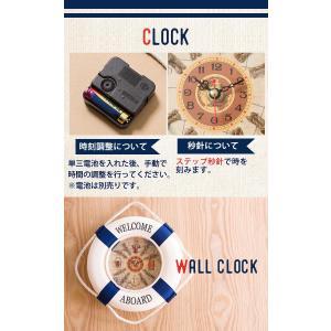 掛け時計 壁掛け時計 インテリア 幅30cm ウォールクロック マリンテイスト 浮き輪モチーフ 浮き輪型 時計 単三電池 ステップ秒針|enjoy-home|07