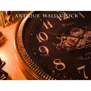 掛け時計 ウォールクロック 壁掛け時計 直径60cm 大型タイプ シャビー加工 アンティーク風 エレガントデザイン インテリア|enjoy-home|08