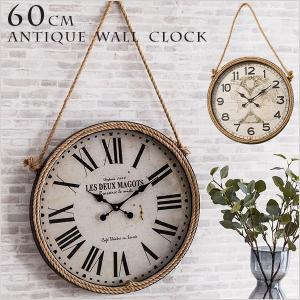 掛け時計 ウォールクロック 壁掛け時計 直径60cm 大型タイプ パイレーツ風デザイン 海賊デザイン シンプル インテリア|enjoy-home