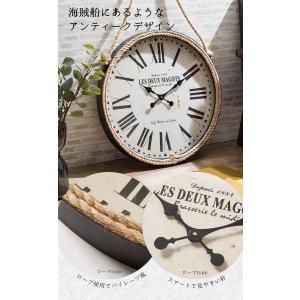 掛け時計 ウォールクロック 壁掛け時計 直径60cm 大型タイプ パイレーツ風デザイン 海賊デザイン シンプル インテリア|enjoy-home|05