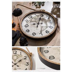 掛け時計 ウォールクロック 壁掛け時計 直径60cm 大型タイプ パイレーツ風デザイン 海賊デザイン シンプル インテリア|enjoy-home|06