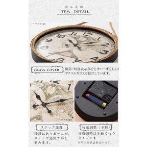 掛け時計 ウォールクロック 壁掛け時計 直径60cm 大型タイプ パイレーツ風デザイン 海賊デザイン シンプル インテリア|enjoy-home|07