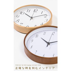 掛け時計 壁掛け時計 電波時計 電波 時計 ウォールクロック 木目調|enjoy-home|04