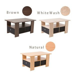 テーブル 木製 センターテーブル 引き出し ロ...の詳細画像1