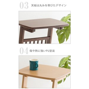 サイドテーブル コの字タイプ マガジンラック付き ベッドサイド ソファサイド テーブル 机 つくえ PU塗装 小物置き|enjoy-home|11