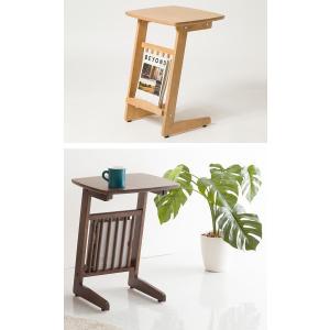 サイドテーブル コの字タイプ マガジンラック付き ベッドサイド ソファサイド テーブル 机 つくえ PU塗装 小物置き|enjoy-home|13