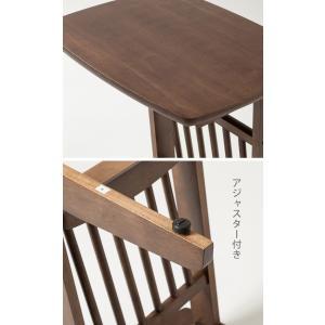 サイドテーブル コの字タイプ マガジンラック付き ベッドサイド ソファサイド テーブル 机 つくえ PU塗装 小物置き|enjoy-home|05