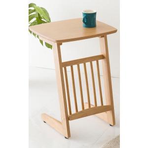サイドテーブル コの字タイプ マガジンラック付き ベッドサイド ソファサイド テーブル 机 つくえ PU塗装 小物置き|enjoy-home|10