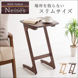 サイドテーブル ベッドサイド ソファサイド 高さ約60cm アジャスター付き スリム コンパクト テーブル 机 つくえ PU塗装 enjoy-home