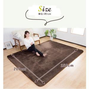 ラグ カーペット 洗える 3畳 長方形 200×250cm フランネル 滑り止め ウォッシャブル ホットカーペット対応|enjoy-home|04
