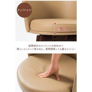 ダイニングセット 3点セット 幅80cm ダイニングテーブルセット 2人掛け テーブル チェア 椅子 2脚 カフェ風 クッション ファブリック PVC 背もたれ 360回転|enjoy-home|08