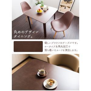 ダイニグテーブル 2人用 80cm幅 角丸加工 ロータイプ アジャスター付き 木製 ラバーウッド enjoy-home 04