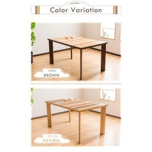 ダイニングテーブル 長方形 135cm幅 突板 ダイニング テーブル単品 木の質感 PU塗装 アジャスター付き おしゃれ|enjoy-home|02