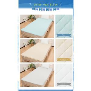 敷きパッド シングル 抗菌 防臭 夏 ベッドパ...の詳細画像1