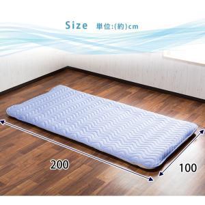 敷きパッド シングル ひんやり 冷感敷きパッド クール 涼感 夏 100×200cm 洗える ベッドパッド 冷感マット 快適 おしゃれ|enjoy-home|03