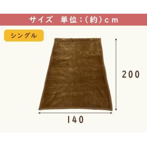 毛布 襟付き 2枚合わせ毛布 シングル マイクロファイバー 保温性 あったか 140×200cm 洗える ウォッシャブル 寝具 布団|enjoy-home|03