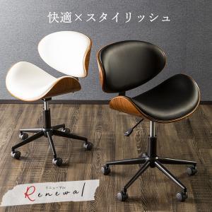 オフィスチェア パソコンチェア ローバック PCチェア オフィスチェアー クッション 木目 包み込む デザイン シンプル 椅子 イス|enjoy-home