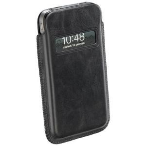 iPhone4/4S用 レザー<革>ケース <ブラック> イタリア cellular line社製 <lud_cl-ele>|enjoy-tokusenkan
