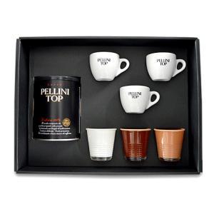 【PELLINI ペリーニ】コーヒーギフトセット エスプレッソ&カップコレクション PLGF-4EC|enjoy-tokusenkan