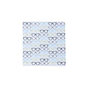 メガネ拭きめがね柄グレー メガネ・携帯画面拭き|enneashop