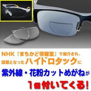 ハイドロタックHydrotac 貼る老眼鏡 紫外線・花粉カットめがね付 遠近両用めがねに早変わり まちかど情報室|enneashop