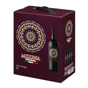 送料無料 ミルーナ 赤 バックインボックス 3000ml ワイン 12度 正規品|enokishouten