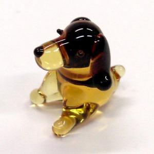 座犬 ガラス細工 雑貨 置物|enoshimahook