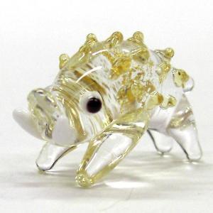 金箔十二支イノシシ(亥) S ガラス細工 雑貨 置物|enoshimahook