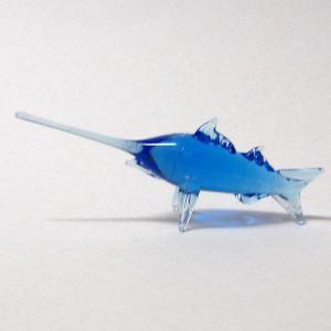ブルーカジキ S ガラス細工 雑貨 置物|enoshimahook