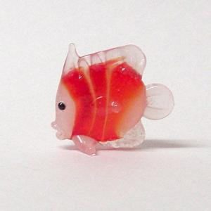 トロピカルフィッシュ 赤 ガラス細工 雑貨 置物|enoshimahook