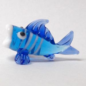 鯉 ブルー ガラス細工 雑貨 置物|enoshimahook