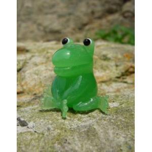 座りカエル ガラス細工 雑貨 置物|enoshimahook