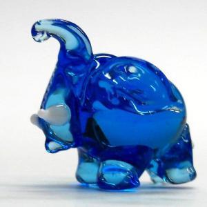 まるゾウ ブルー ガラス細工 雑貨 置物 enoshimahook