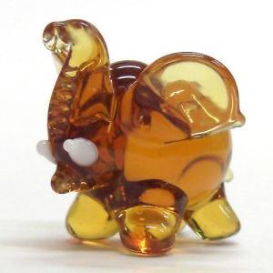 まるゾウ ブラウン ガラス細工 雑貨 置物 enoshimahook