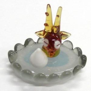 温泉シカ ガラス細工 雑貨 置物|enoshimahook